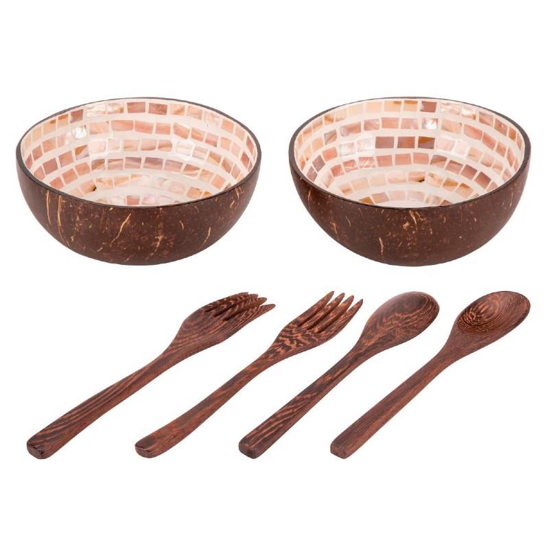 Coconut Bowls Medium Mosaic Family Pack