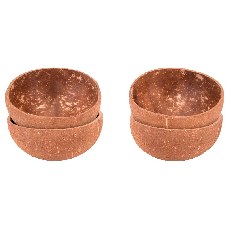 Coconut Bowls Natural Family Pack